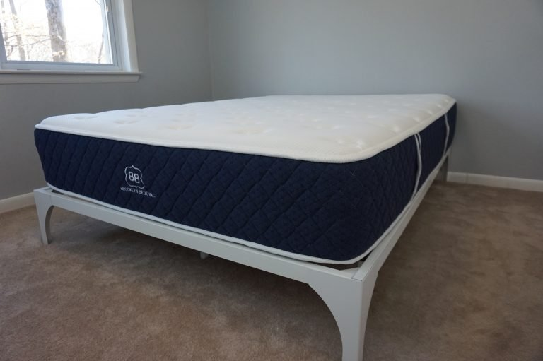 Brooklyn Bedding Signature mattress showing handles for carrying