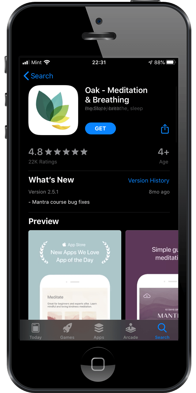 iOS App Store, Oak App