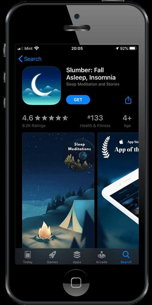 iOS App Store, Slumber App