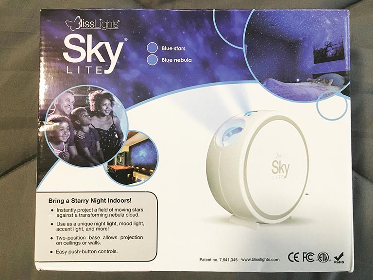 Bliss sky lite product in packaging