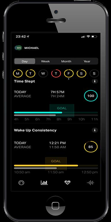 Eight Sleep app with sleep tracking