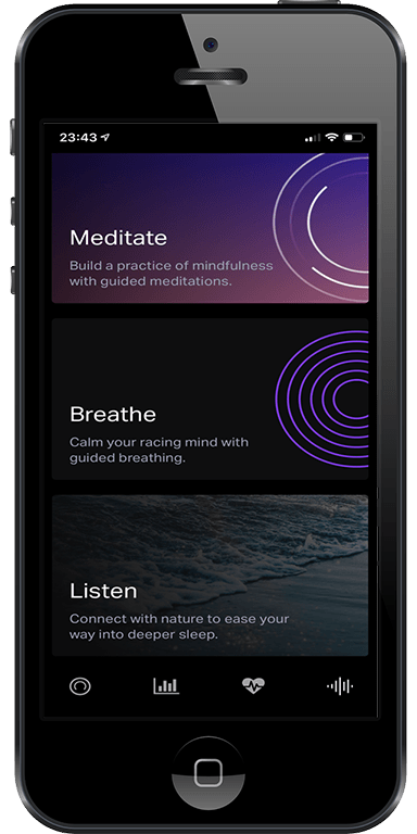 Eight Sleep breathing and mediation sleep app