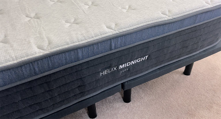 Premium Quilted Pillow Top on the Helix Midnight Luxe