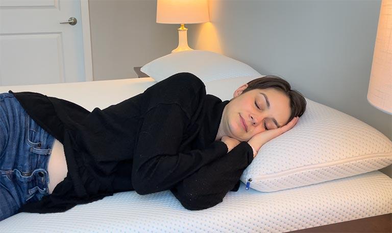 Amerisleep AS4 Sleeping On Side