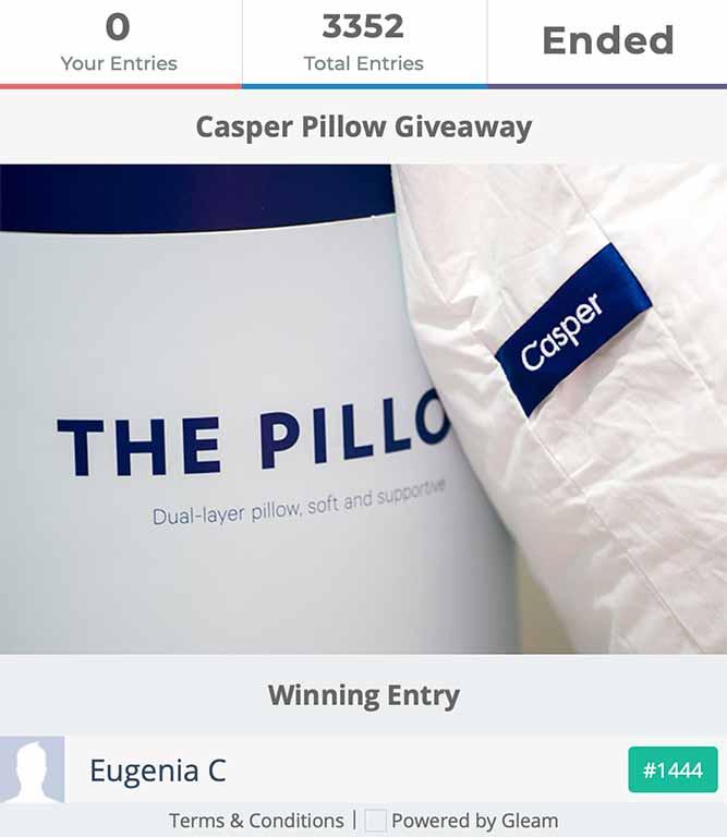 Casper Pillow Past Competition