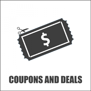 Coupons And Deals Button