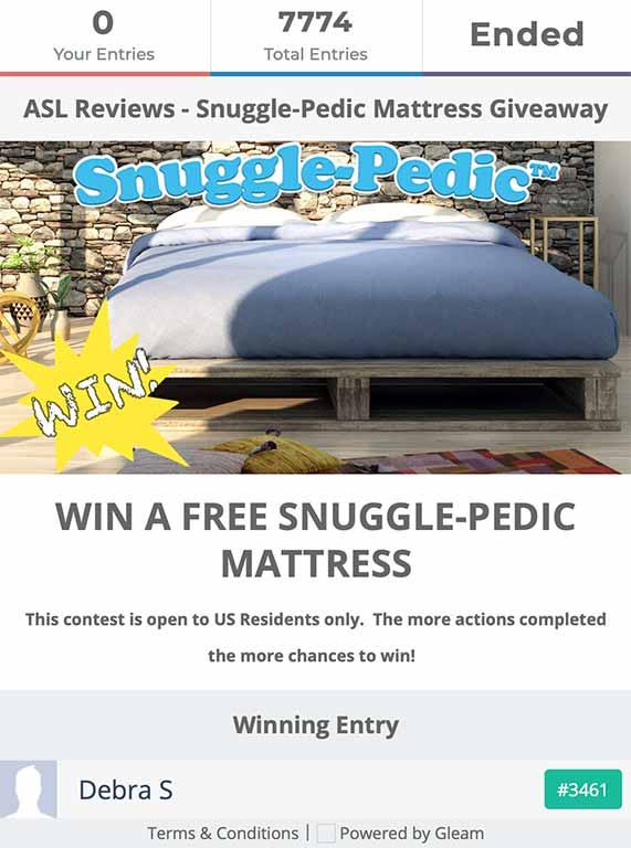 Snuggle-Pedic Past Competition