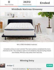 WinkBeds Mattress Giveaway