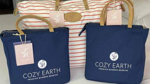 Cozy Earth Bamboo sheets packaging